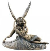Cupid and Psyche Bronze Statue